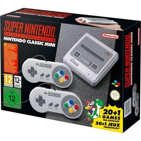 Nintendo Consola clasica Mini SNES cu 21 jocuri preinstalate RS125038303