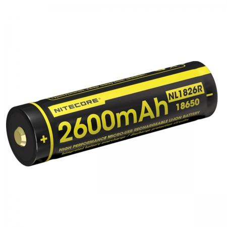 Nitecore NL 1826R - Acumulator 18650 Li-Ion 2600 mAh, reincarcabil USB