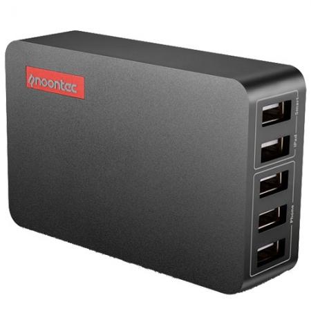 Noontec Powa Hub 25W - incarcator de priza cu 5 porturi USB - negru