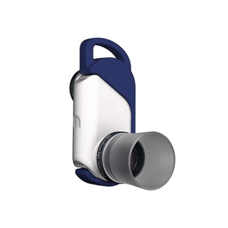OLLOCLIP 3 in 1 Macro Lens - kit lentile macro iPhone 6 si 6 Plus - argintiu