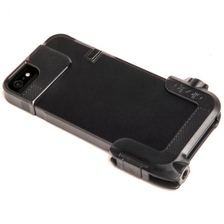 OlloClip Carcasa Quick-Flip + Adaptor Pro-Photo negru pentru iPhone 5s / 5