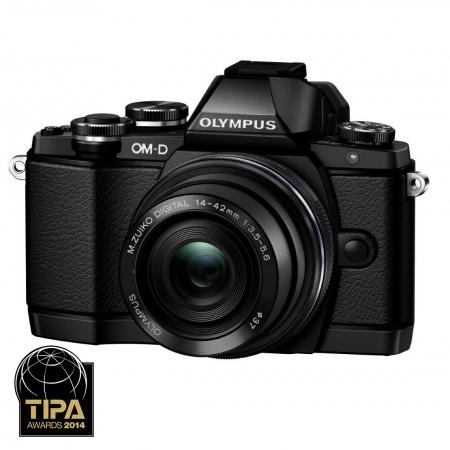 Olympus OM-D E-M10 kit cu 14-42mm EZ Pancake negru