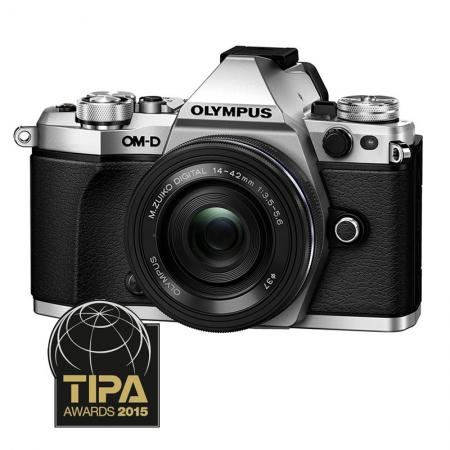 Olympus OM-D E-M5 Mark II argintiu + 14-42 EZ pancake negru