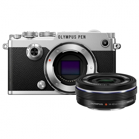 Olympus PEN-F EZ-M 14 42mm EZ Pancake Zoom Kit slv/blk - RS125024607