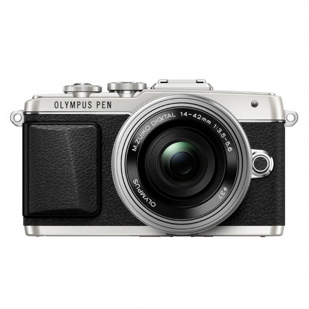 OlympusE-PL7 silver + EZ-M1442EZ silver Pancake RS125014440