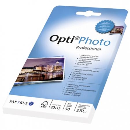 Opti photo professional - Hartie high gloss, 10x15 cm, 270 g/m2, 50 buc.