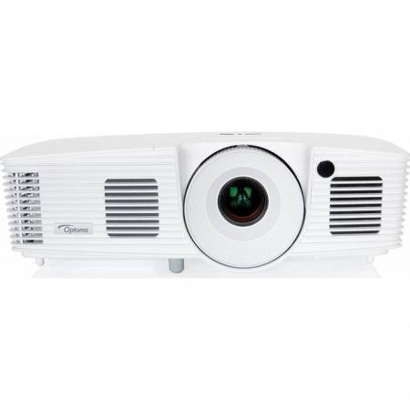 Optoma X350 - Videoproiector XGA, 3400 lumeni, 18.000:1, HDMI, VGA, retea RJ45, 8000 ore, geanta de transport, 10W, Full 3D