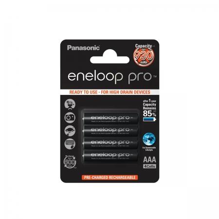 Panasonic Acumulatori Eneloop Pro tip R3 AAA de 930mAh set 4buc