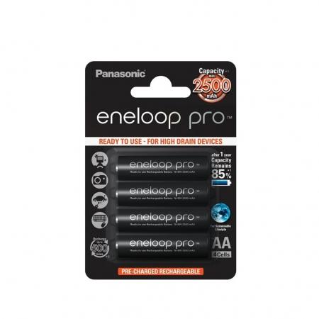 Panasonic Acumulatori Eneloop Pro tip R6 AA de2500mAh set 4buc - Blister RS125020676-3