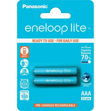 Panasonic Eneloop Lite R03/AAA 550mAh, 2 buc. Blister