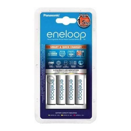 Panasonic Eneloop Loader - Incarcator + 4 acumulatori AA, 1900mAh