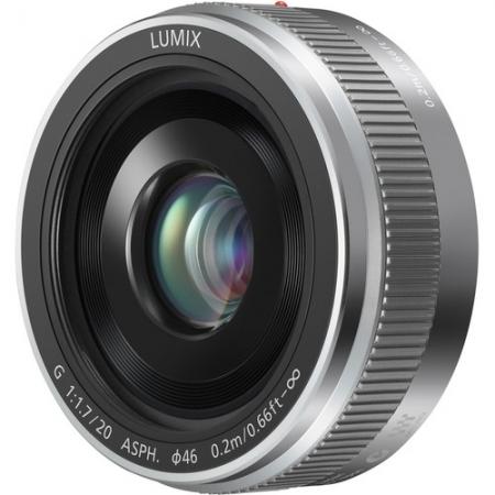 Panasonic LUMIX G 20mm f/1.7 II ASPH - pentru montura Micro 4/3, Argintiu