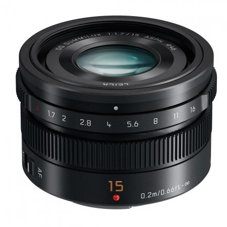 Panasonic LUMIX G Leica DG Summilux 15mm f/1.7 ASPH negru pentru MFT