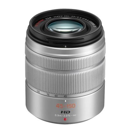 Panasonic LUMIX G VARIO 45-150mm f/4-5.6 ASPH. MEGA O.I.S. argintiu