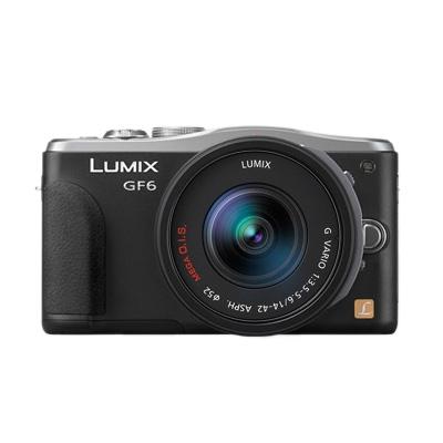 Panasonic Lumix DMC-GF6 negru + obiectiv Vario 14-42mm/f3,5-5,6 ASPH. II MEGA O.I.S. RS125007208