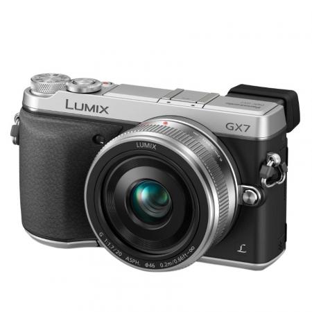 Panasonic Lumix DMC-GX7CEG-S kit cu Pancake de 20mm F1.7 - argintiu RS125007754