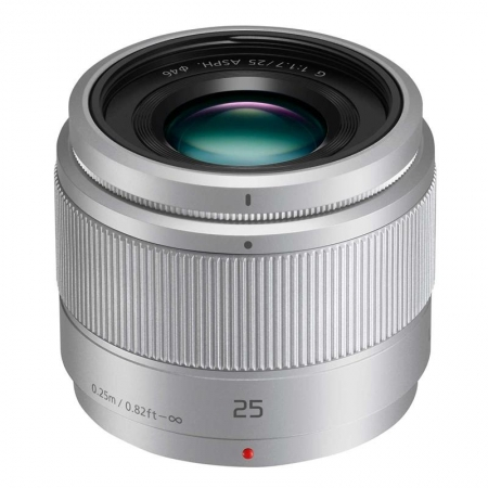 Panasonic Lumix G 25mm f/1.7 ASPH, argintiu
