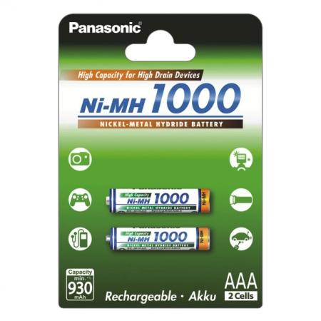 Panasonic acumulator 1000 mAh set 2 buc AAA