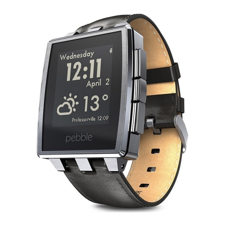 Pebble Steel - ceas inteligent - Brushed Stainless