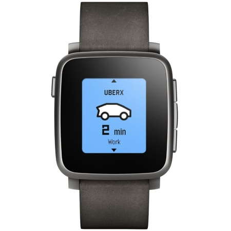 Pebble Time Steel 511-00024 - smartwatch negru