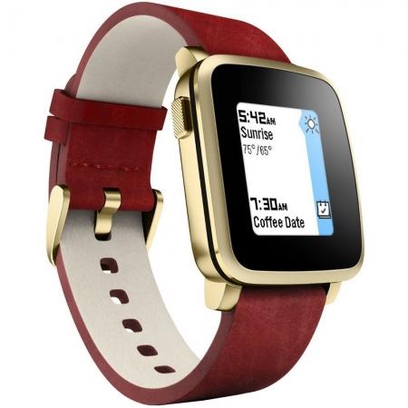 Pebble Time Steel 511-00036 - smartwatch auriu