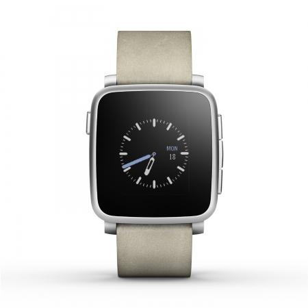 Pebble Time Steel - smartwatch argintiu 511-00023