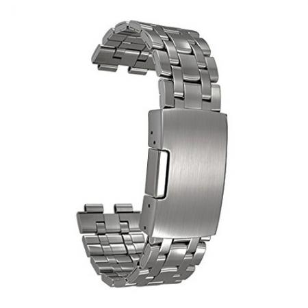 Pebble - curea din otel inoxidabil pentru Pebble Steel argintiu