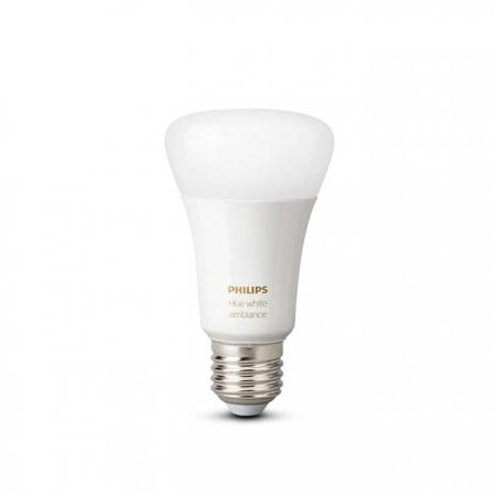 Philips HUE A60 - Bec inteligent LED, E27, 9.5W, Wi-Fi, ambianta alba