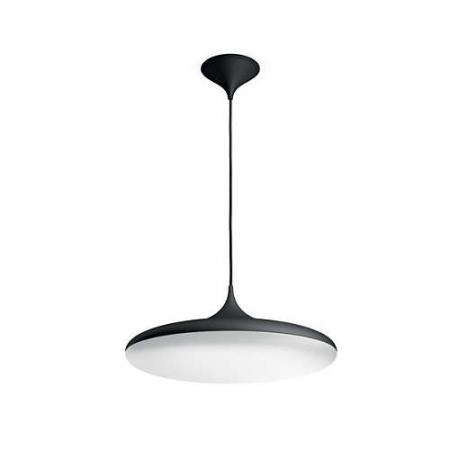 Philips HUE Cher - Lustra cu LED 39W, WiFi, lumina alba reglabila, Negru