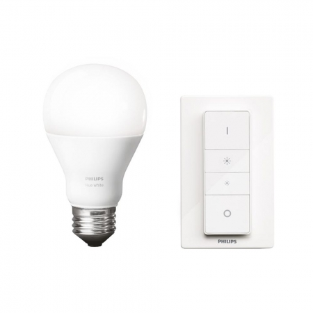 Philips HUE DIM A60 - Kit telecomanda wireless si bec LED E27, 9.5W