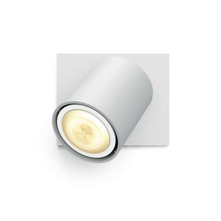 Philips HUE Spot Runner - Bec LED GU10, 5.5W, Wi-Fi, lumina alba reglabila + intrerupator, Alb
