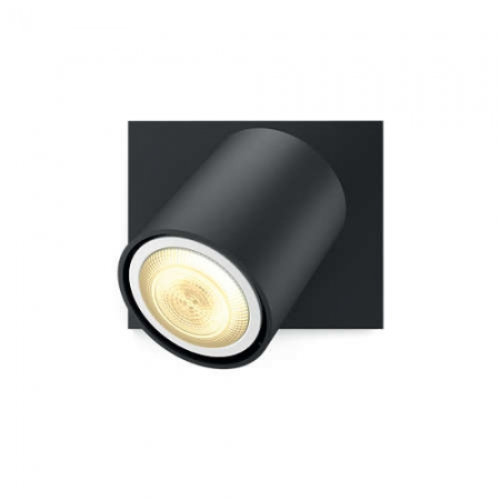 Philips HUE Spot Runner - Bec LED GU10, 5.5W, Wi-Fi, lumina alba reglabila + intrerupator, Negru