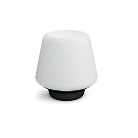 Philips Hue Wellness - Veioza inteligenta cu bec LED E27, 9.5W, Wi-Fi, lumina alba reglabila, Neagra