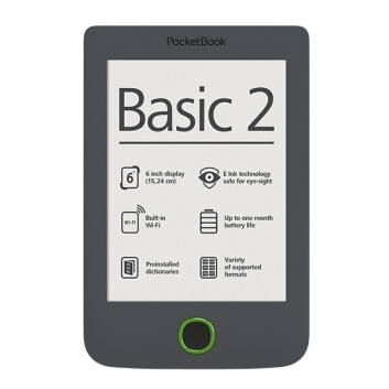 PocketBook BASIC 2 614 gri - E-Book Reader