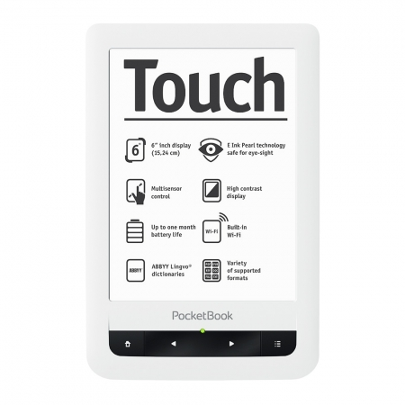 PocketBook Basic Touch 624 - E-Book Reader - alb