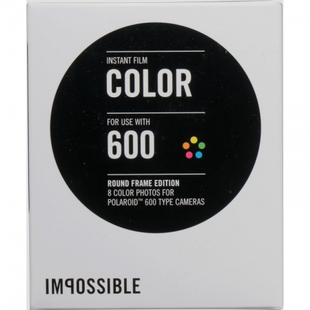 Film Impossible 600 Color Round Frame