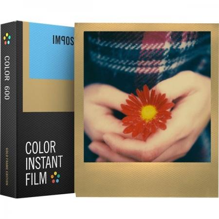 Impossible - Film Color pentru 600, Gold Frame