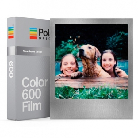 Polaroid Originals - Film color pentru Polaroid 600, Silver Frame