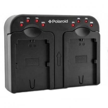 Polaroid PLCH2CN18 - Incarcator Dual pentru Canon BP511, LPE6, LPE8