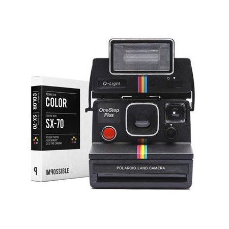 Impossible Polaroid SX-70 - aparat foto instant cu blit si un film color