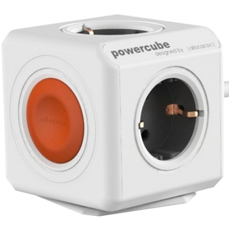 Power Cube Priza Compacta Cu Fir Cu 4 Porturi si Buton De Oprire, 1.5M