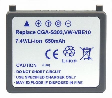 Power3000 PL303G.343 Acumulator replace tip Pan.CGA-S003,VW-VBE10,650mAh RS102530