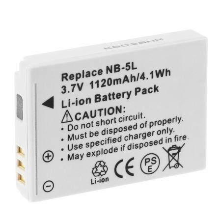 Power3000 PL56G.734 - acumulator replace tip Canon NB-5L 1120mAh