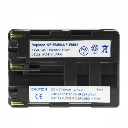 Power3000 PLM501D.855 - acumulator tip NP-FM50 pentru Sony, 1620mAh