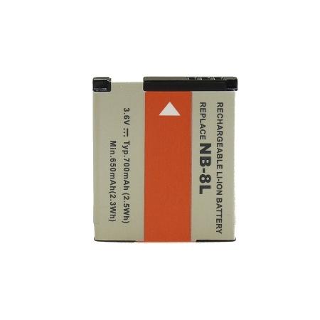 Power3000 PLW381.533 /PL381 Acumulator replace tip Canon NB-8L, 3.6v 740mAh