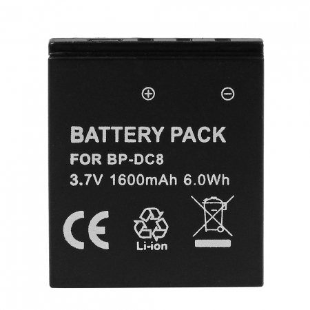 Power3000 PLW383B.339 -acumulator replace Leica BP-DC8 1600mAh