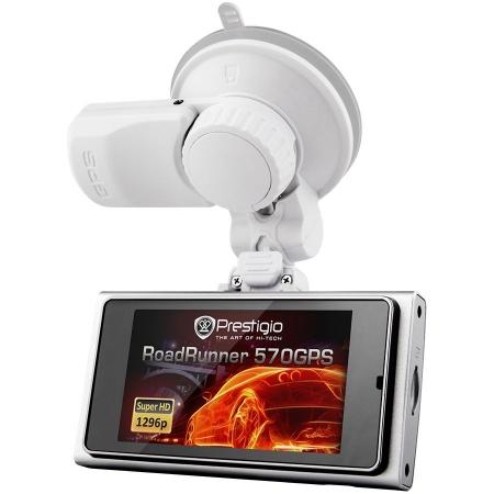 Prestigio RoadRunner 570 - Camera auto DVR, SHD - White
