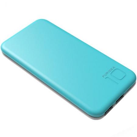 Puridea S2 - Baterie externa 10000mAh, 2 x USB, Albastru