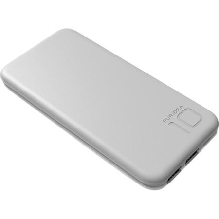 Puridea S2 - Baterie externa 10000mAh, 2 x USB, Gri