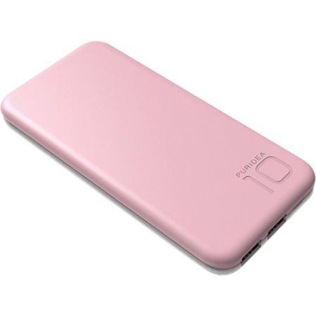 Puridea S2 - Baterie externa 10000mAh, 2 x USB, Roz